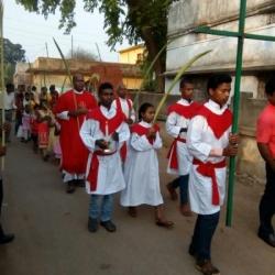 Holy Family Mission, Rahargora, Palm Sunday